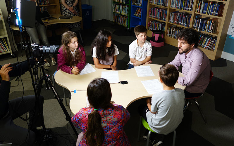 Students Interview New York Times Best-Selling Author