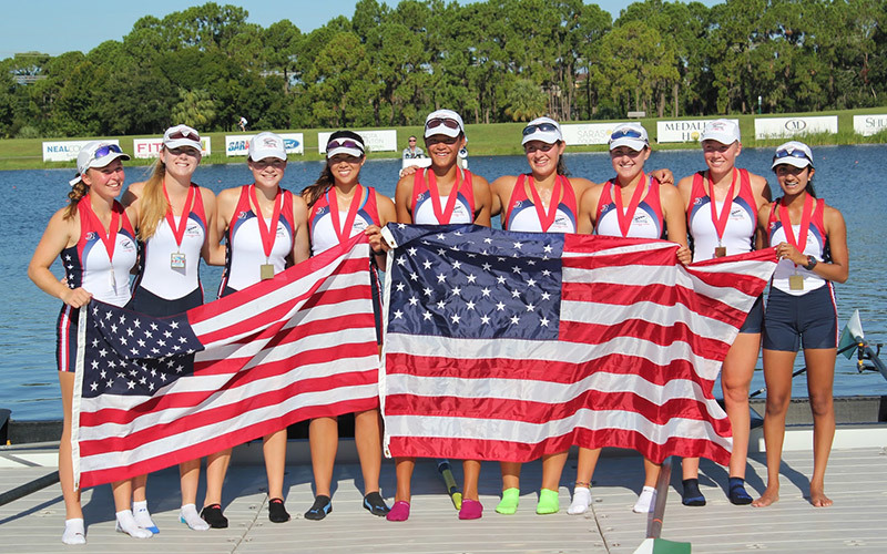 Group photo of the US Junior National Development Rowing Team