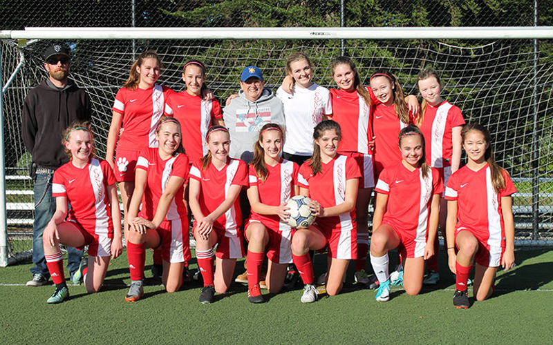 Group photo of Convent eighth grade soccer champions